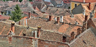 Sighisoara roofs Royalty Free Stock Photography