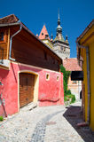 Sighisoara, Rumänien stockbilder