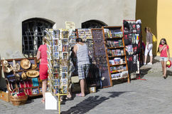 Sighisoara souvenirs shop Stock Photos
