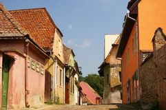 Sighisoara street Royalty Free Stock Image