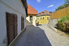 Sighisoara street rock Royalty Free Stock Photography