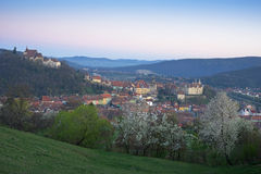 Sighisoara at sunrise Royalty Free Stock Photography