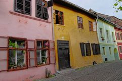 Sighisoara,  the tenement house. Transylvania, Romania Royalty Free Stock Image