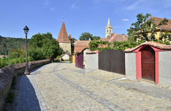 Sighisoara tower street Stock Image