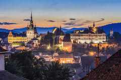 Sighisoara, Transsylvanië, Roemenië royalty-vrije stock foto