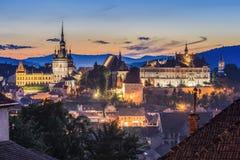 Sighisoara, Transylvania, Romania. Sighisoara at sunset time, Transylvania, Romania royalty free stock photo