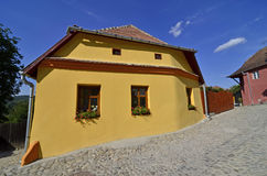 Sighisoara yellow Stock Photography