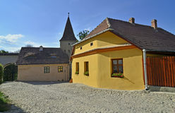 Sighisoara yellow art Royalty Free Stock Image