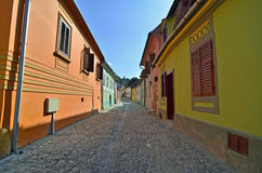 Sighisoara yellow green Royalty Free Stock Image