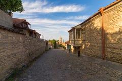 Sighnaghi, de mooie oude stad in Kakheti-gebied, Georgië royalty-vrije stock foto's