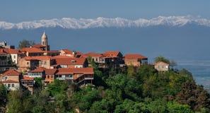 Sighnaghi es la ciudad del amor en Georgia foto de archivo libre de regalías