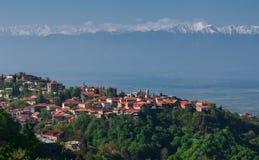 Sighnaghi es la ciudad del amor en Georgia imagenes de archivo