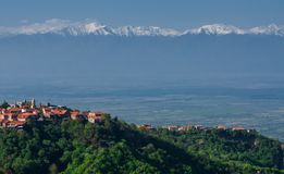Sighnaghi es la ciudad del amor en Georgia Imagen de archivo libre de regalías