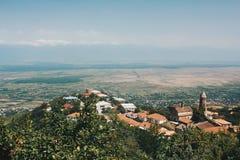 Sighnaghi jest ładnym miasteczkiem w Kakheti zdjęcie royalty free