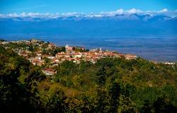 Sighnaghi lub Signagi miasto, Kakheti Gruzja region Zdjęcia Royalty Free