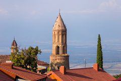 Sighnaghi piękny stary miasteczko w Kakheti regionie, Gruzja Zdjęcie Royalty Free