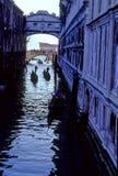 Sighs- Venetië, Italië van de brug stock afbeelding