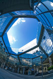 Sight from within. Kind on the sky from a courtyard of a modern business centre Stock Photography