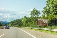 Sight Albert-Schweizer-Haus Kurort Konigsfeld sign Stock Images