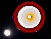 Bottom View Of Hanging Round Lamp stock photo