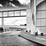 Sight Berlin, konstnärlig blick i svartvitt Fotografering för Bildbyråer