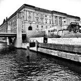 Sight Berlin, konstnärlig blick i svartvitt Royaltyfri Bild