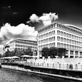 Sight Berlin, konstnärlig blick i svartvitt Royaltyfri Foto