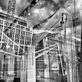 Sight Berlin Konstnärlig blick i svartvitt Royaltyfri Fotografi