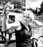Sight Berlin Konstnärlig blick i svartvitt Arkivbilder