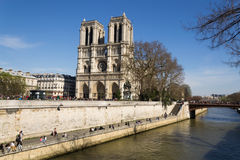 Sight on the cathedral. Notre-Dame de Paris Royalty Free Stock Photography