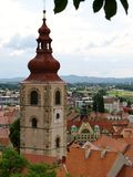 Sight at the center of Ptuj Royalty Free Stock Photography