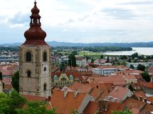 Sight at the center of Ptuj Stock Photography