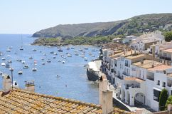 Sight of the coastal village of Cadaques Royalty Free Stock Photos