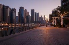 Sight of Dubai Marina district Stock Image
