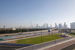Sight of Dubai. From road flyover Stock Photography