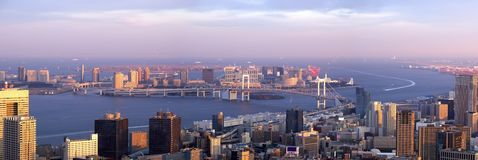 Sight on evening Tokyo. Big panorama of evening Tokyo was photographed from Tokyotower height about 250 meters Royalty Free Stock Photo