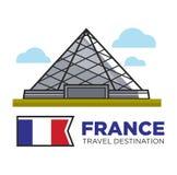 Sight för arkitektur för Louvre för gränsmärke för Frankrike loppdestination royaltyfri illustrationer