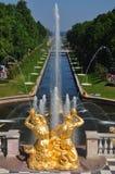 sight för slottpeterhofpetersburg sankt Royaltyfria Bilder