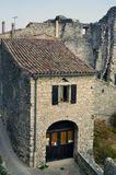 Sight of the French village of Vezenobres Royalty Free Stock Images