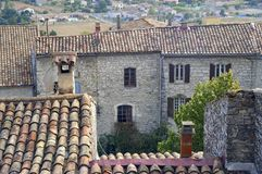 Sight of the French village of Vezenobres Royalty Free Stock Photography