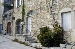 Sight of the French village of Vezenobres Royalty Free Stock Photo