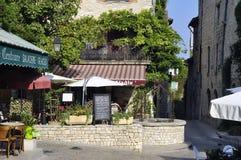 Sight of the French village of Vezenobres Stock Photos