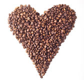 Sight 'Heart' from Coffee beans. On white isolated background Stock Photos