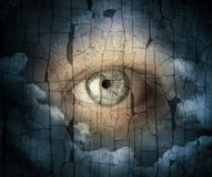 A sight from heavens grunge image. Religion team background royalty free stock photo