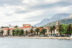 Sight from Makarska, a famous tourist destination in Dalmatia, Croatia Stock Image