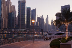 Sight of Marina district in Dubai Stock Images