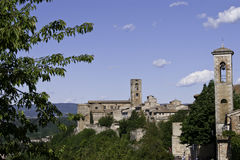Sight of medieval city in Tuscany royalty free stock photo