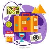 Sight- och shoppingbegrepp Moderiktig ameobaillustration royaltyfri illustrationer