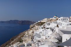Sight of Oia town. On Santorini Royalty Free Stock Photo