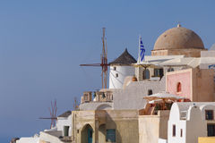 Sight of Oia town. On Santorini Royalty Free Stock Photos